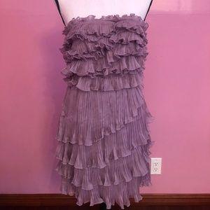 purple strapless dress size M